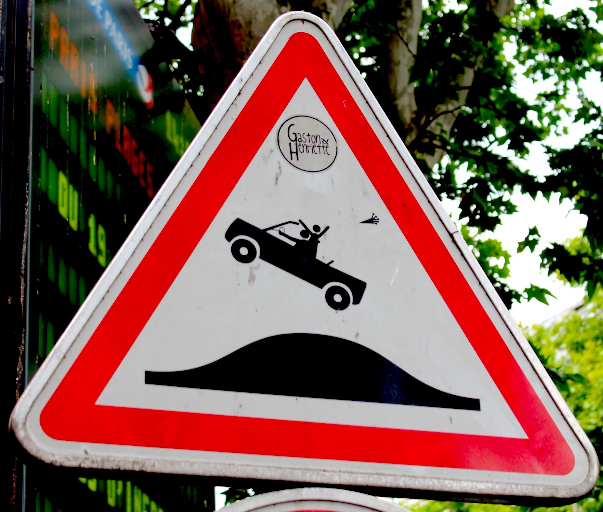 street art: speed bump
