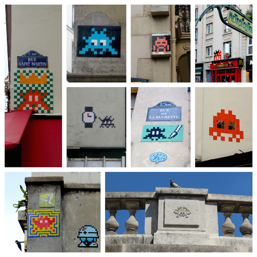 street art: space invaders